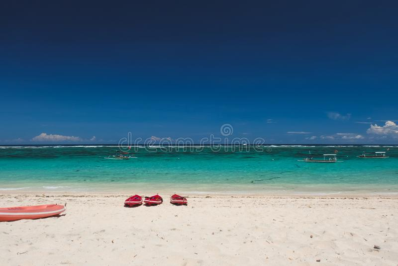Пляж Pendawa принятый в Бали Индонезию стоковые фото