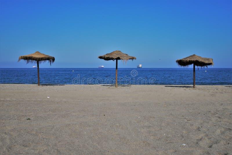 Пляж Puerto Rey от Вера Альмерия Андалусии Испании стоковая фотография rf