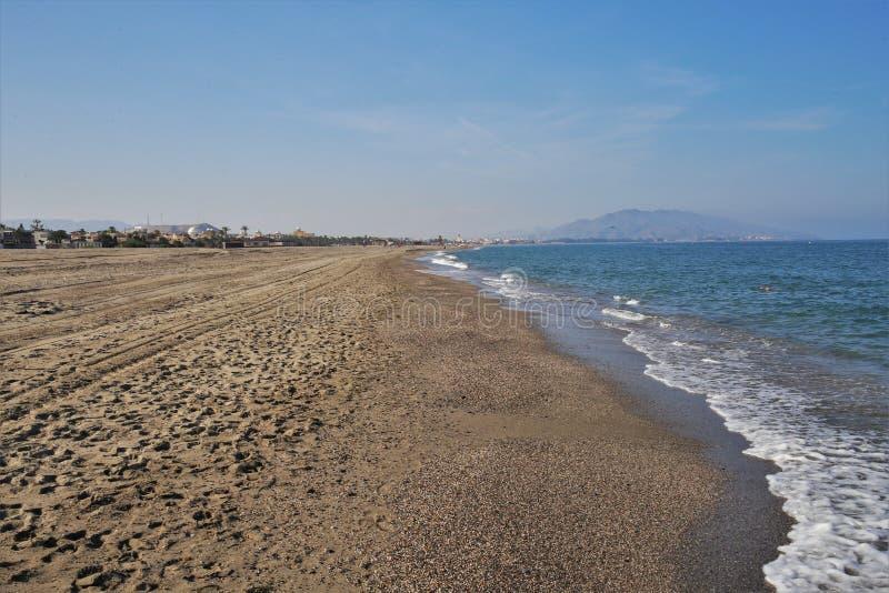 Пляж Puerto Rey от Вера Альмерия Андалусии Испании стоковые фотографии rf