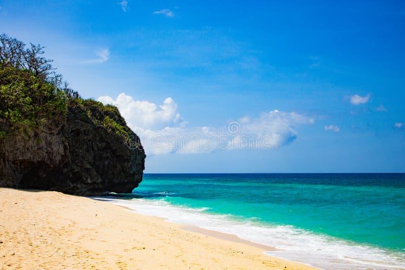 Пляж Puka на острове Филиппинах Boracay стоковая фотография
