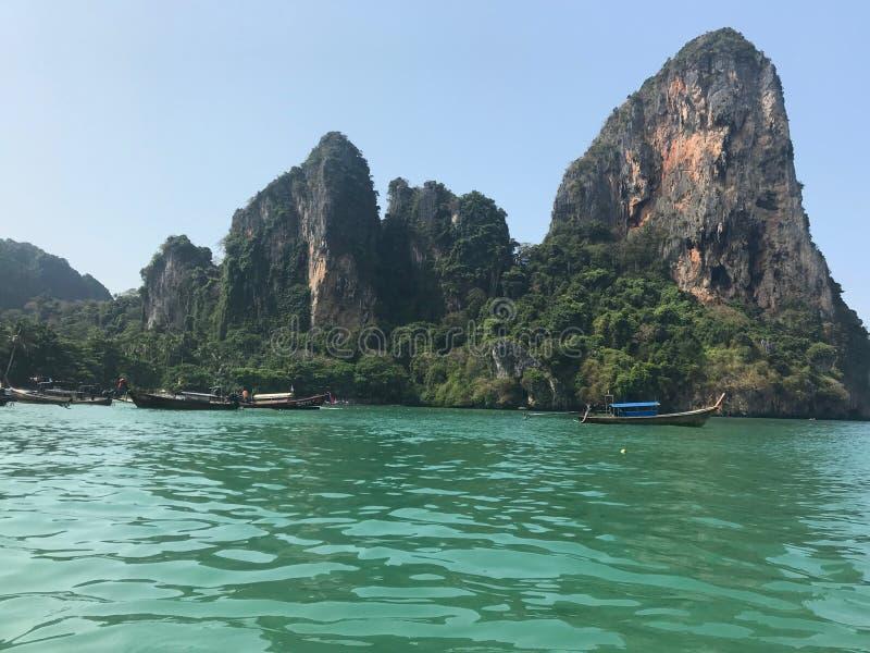 Пляж Railay в Krabi Таиланде стоковое изображение