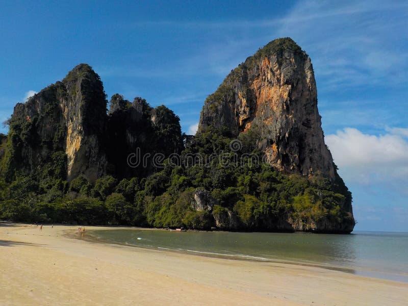 Пляж Railay западное, Krabi рая, Таиланд стоковое фото rf