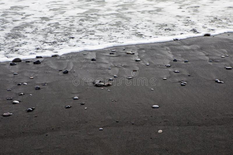 Пляж Reynisfjara в Исландии стоковая фотография