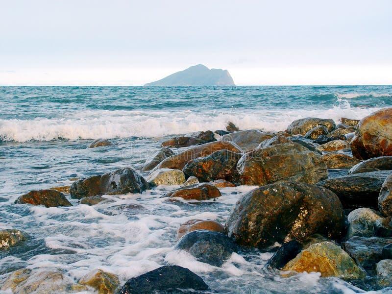пляж roacky стоковое изображение rf