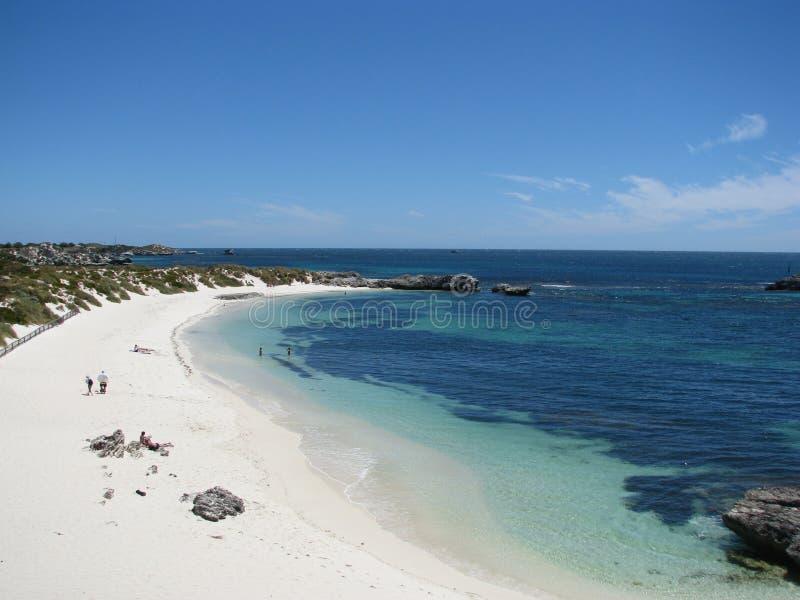 пляж rottnest стоковое изображение rf