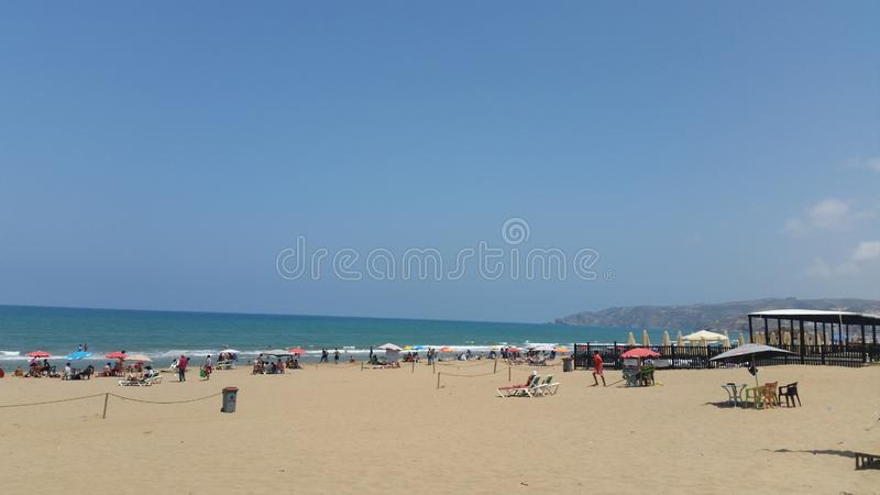 Пляж Saidia, Марокко стоковые изображения