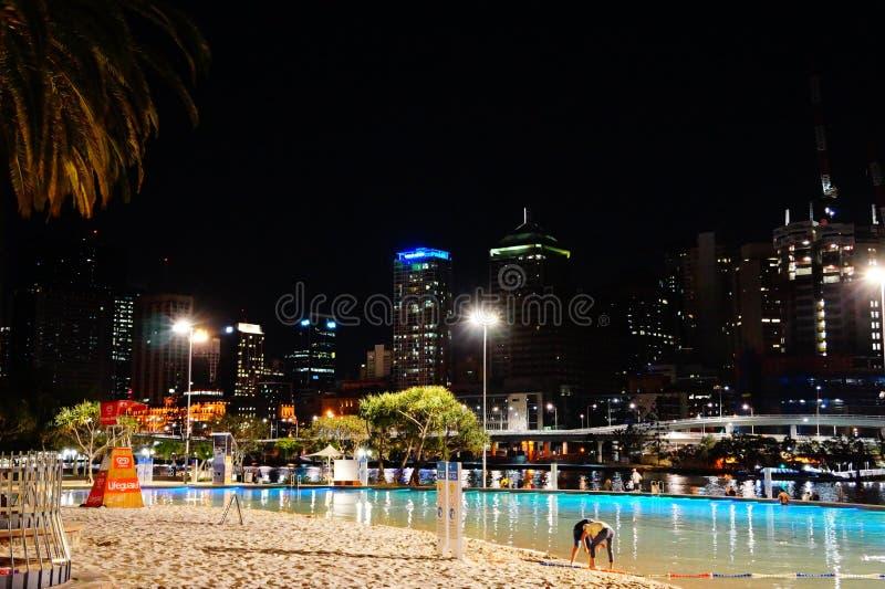 Пляж Southbank в бесполезном стоковое фото rf