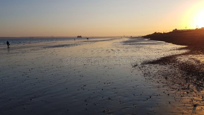 Пляж Southsea стоковые изображения