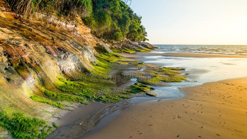 Пляж Tanjung Lobang стоковые фотографии rf