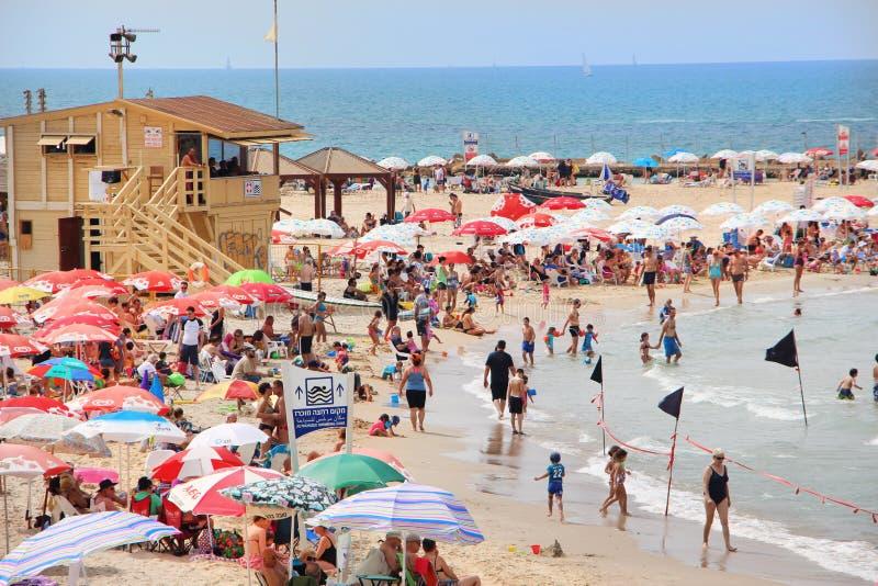 Пляж Tel Aviv стоковое изображение rf