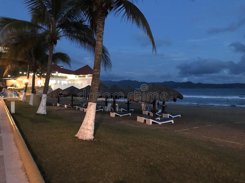 Пляж Tenacatita стоковое фото rf