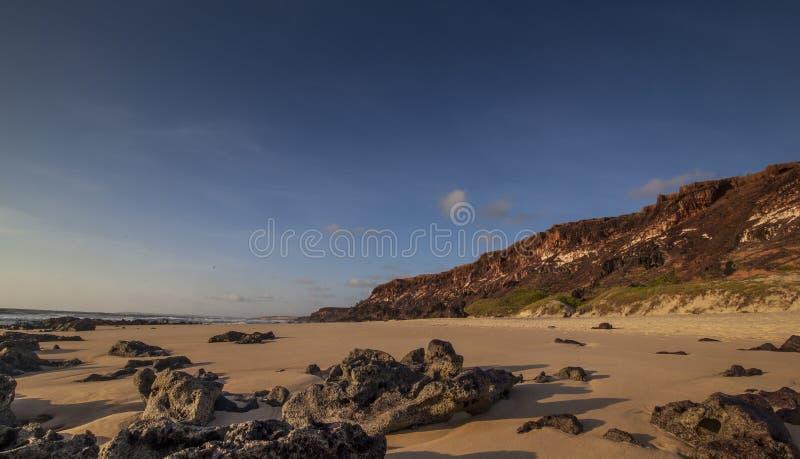 Пляж Tibau пипы делает Sul - Риу-Гранди-ду-Норти стоковые изображения
