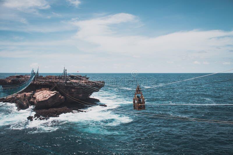 Пляж Timang на юге Ява стоковое фото rf