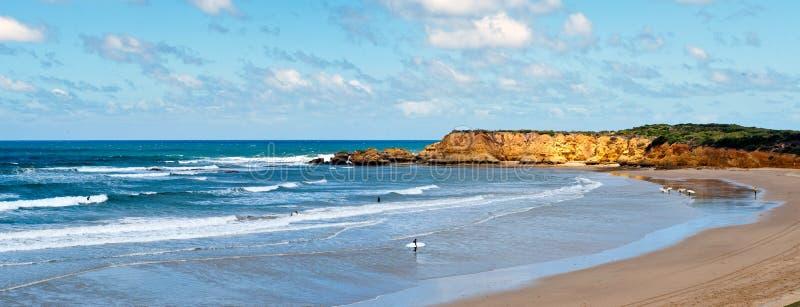 пляж torquay Австралии стоковое фото