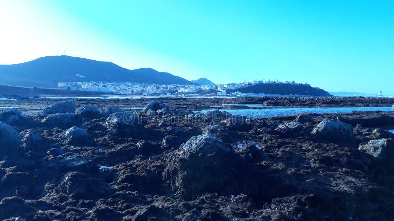Пляж vu Sity стоковое изображение rf