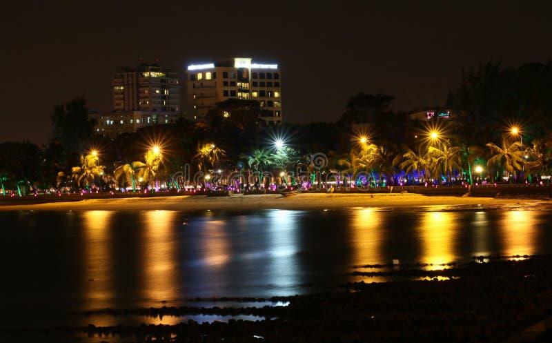 Пляж Vung Tau в вечере стоковое фото rf