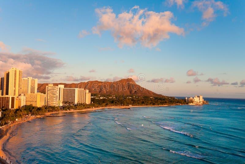 Пляж Waikiki стоковые фото