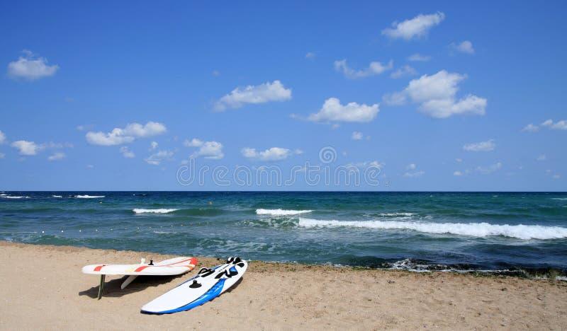 пляж windsurfing стоковая фотография