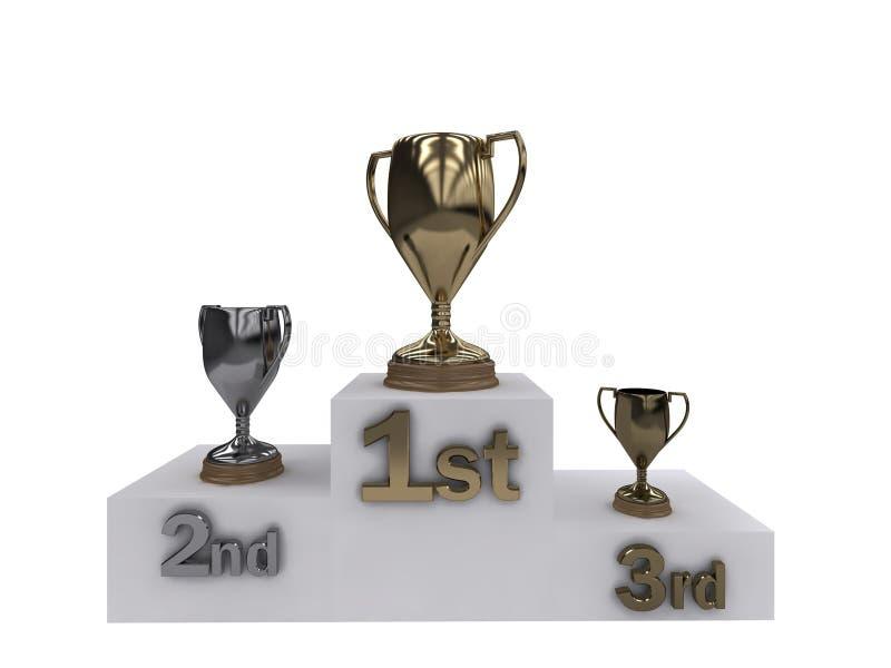 победители трофеев подиума иллюстрация штока