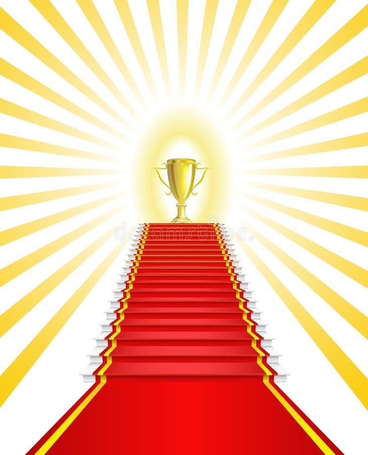 победитель золота чашки иллюстрация штока