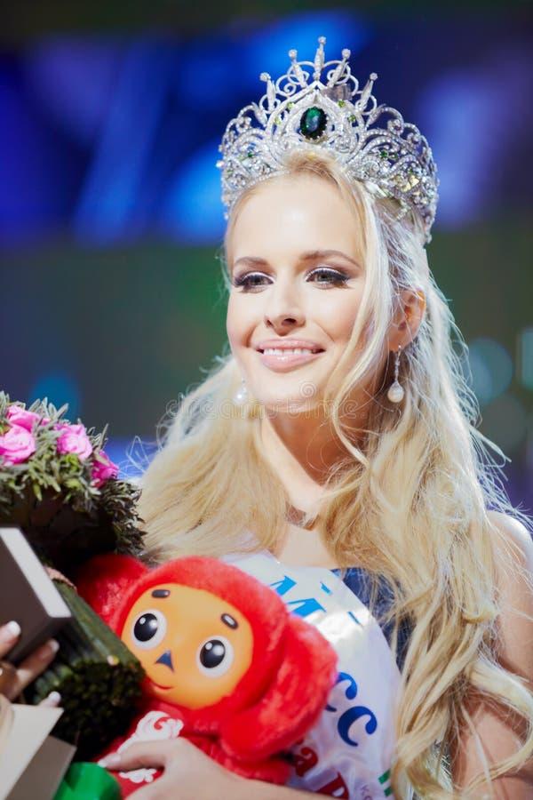 Победитель красотки состязания N.Pereverzeva России 2011 стоковое изображение