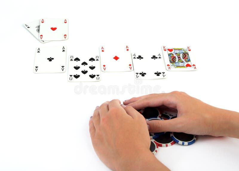 победитель покера стоковая фотография rf
