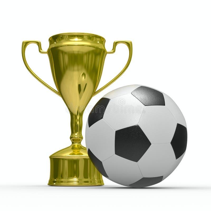 победитель футбола золота чашки шарового подпятника бесплатная иллюстрация