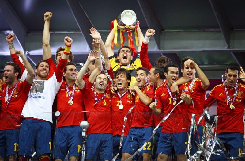 победитель uefa Испании евро 2012 стоковая фотография rf