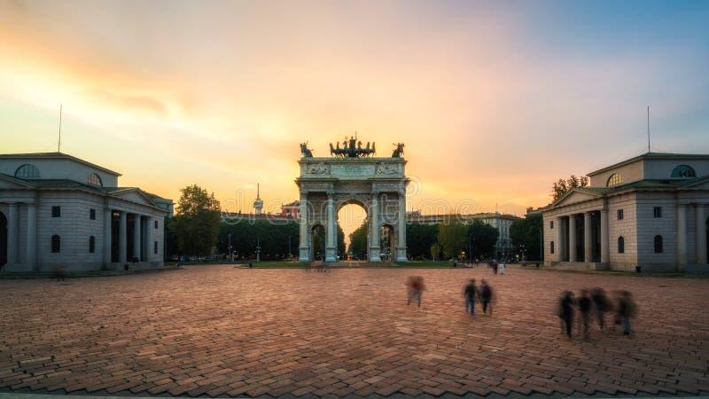 Побежка della Arco в Милане, Италии стоковое фото rf