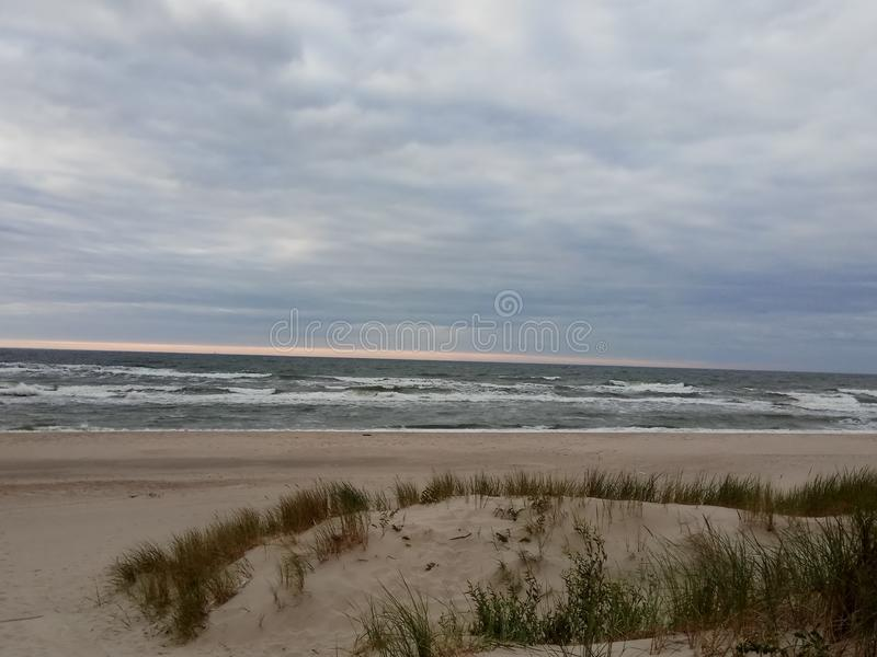 Побережье Балтийского моря на пасмурный летний день стоковое изображение rf