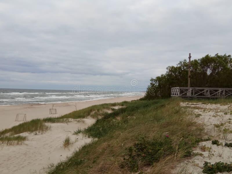 Побережье Балтийского моря на пасмурный летний день стоковые фото