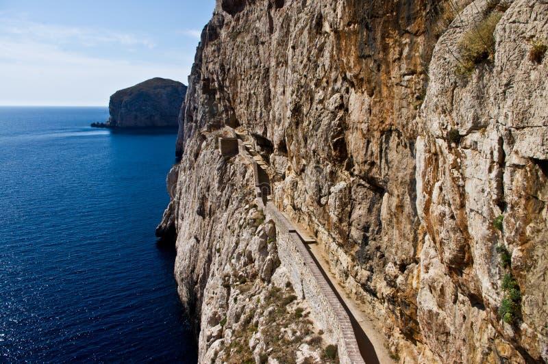 Побережье взгляда скалистое в Сардинии стоковые изображения