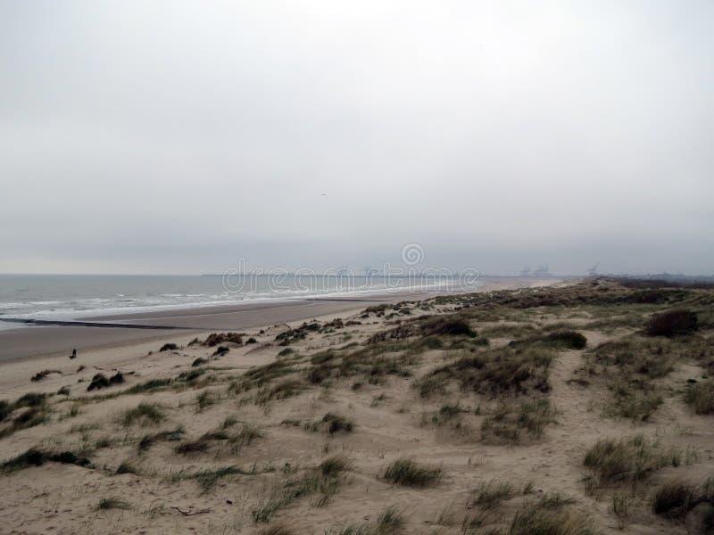 Побережье Европы, Бельгии, западной Фландрии, Северного моря около города Blankenberge стоковое изображение rf