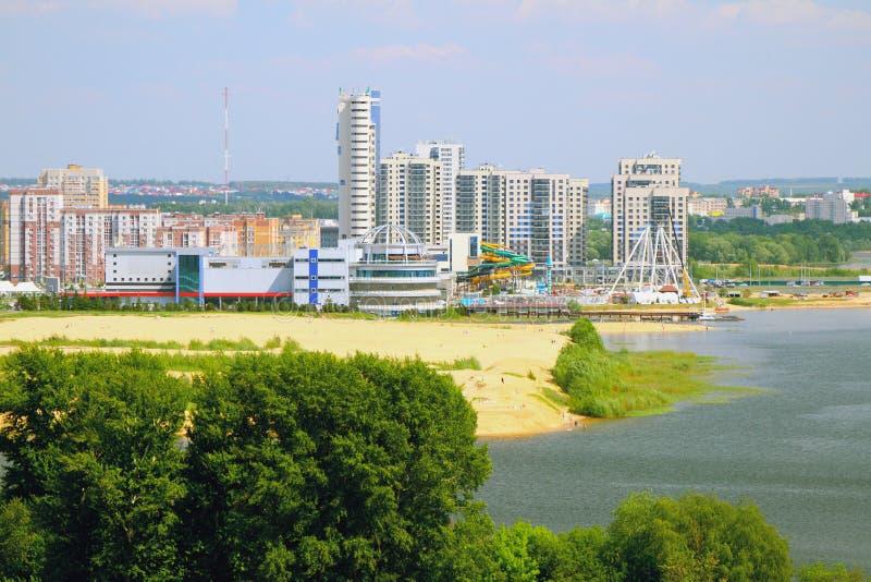Побережье и город реки kazan Россия стоковая фотография