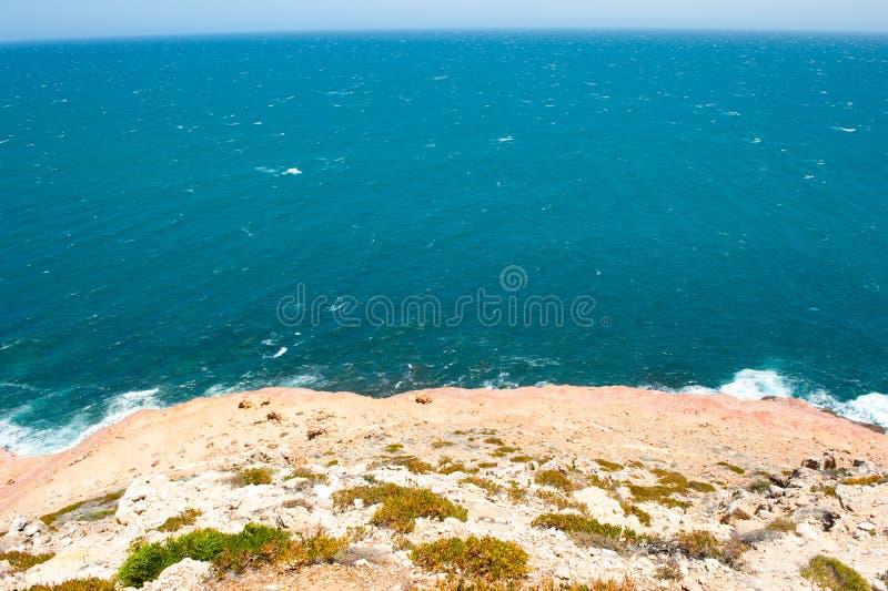 Побережье крутой скалы Kalbarri стоковое фото rf