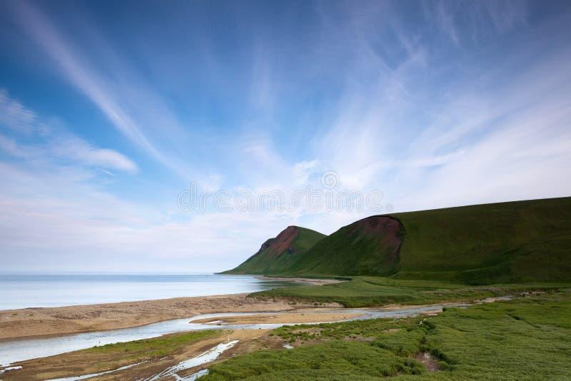 Побережье океана, командир острова, залив Buyan стоковое изображение