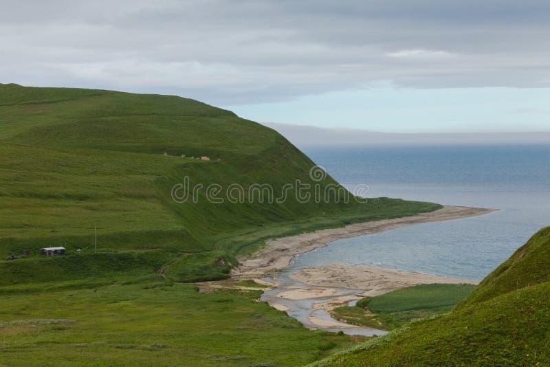 Побережье океана, командир острова, залив Buyan стоковое изображение rf