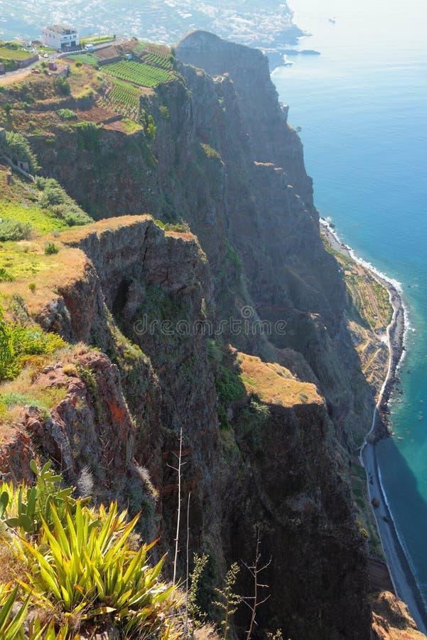 Побережье острова Мадейры, Португалии стоковая фотография