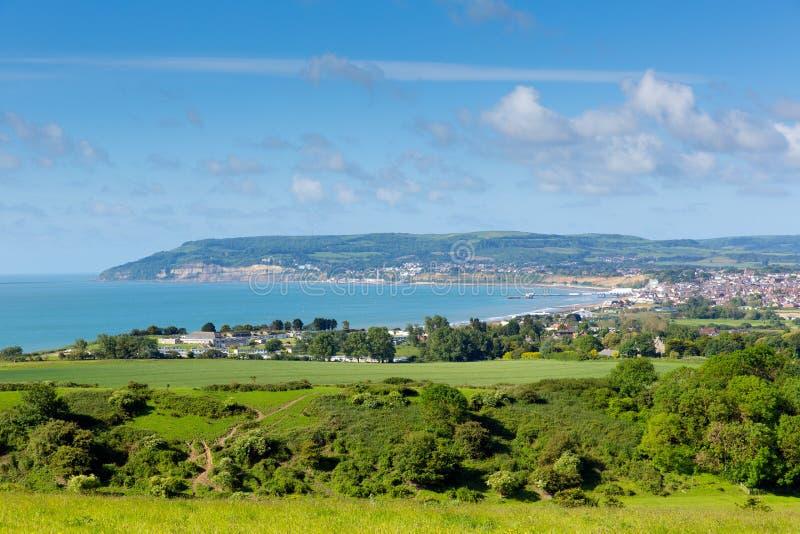Побережье острова Уайт на Shanklin и Sandown стоковая фотография