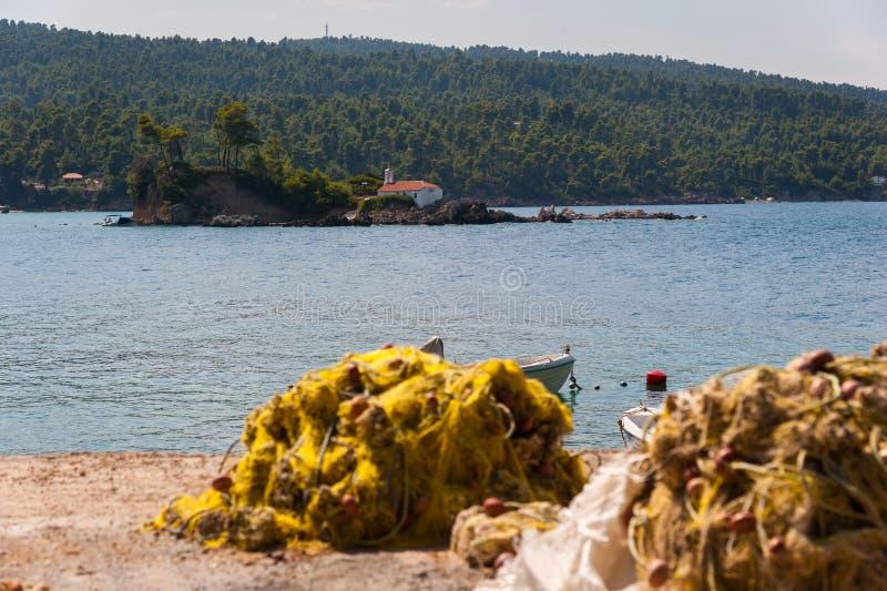 Побережье острова Evia стоковое фото