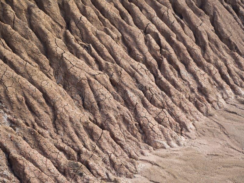 Побережье эрозии почвы предпосылки стоковое фото