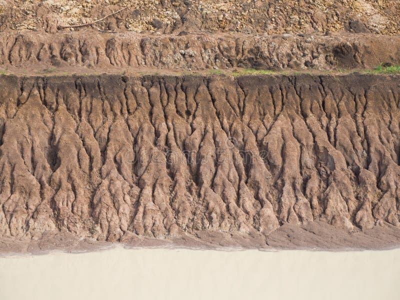 Побережье эрозии почвы предпосылки стоковая фотография