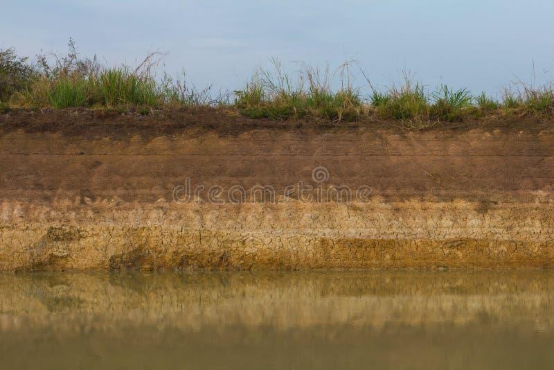 Побережье эрозии почвы стоковые фото