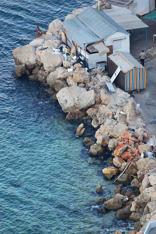 Побережье Chekka общественное в Ливане стоковое фото