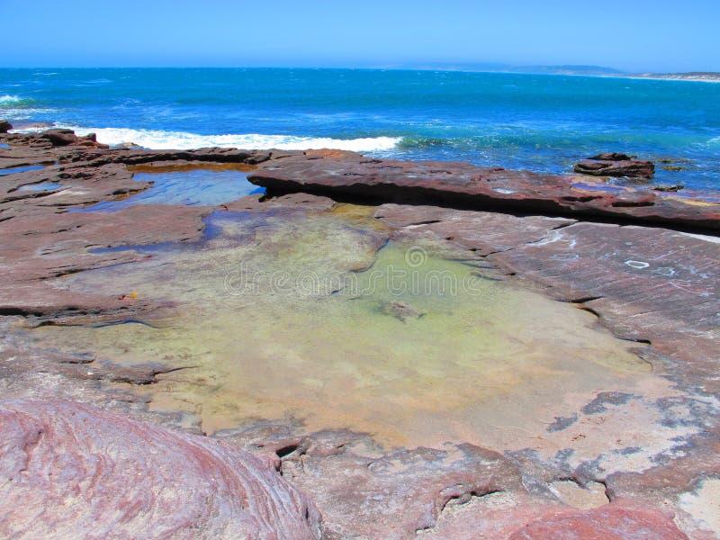Побережье kalbarri, западной Австралии стоковая фотография