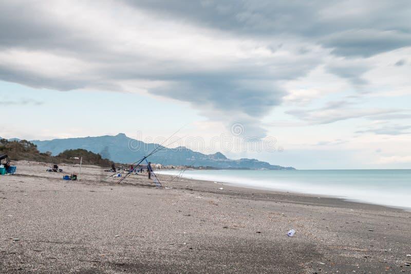 Побережье Riposto Сицилии Ionian стоковые изображения rf