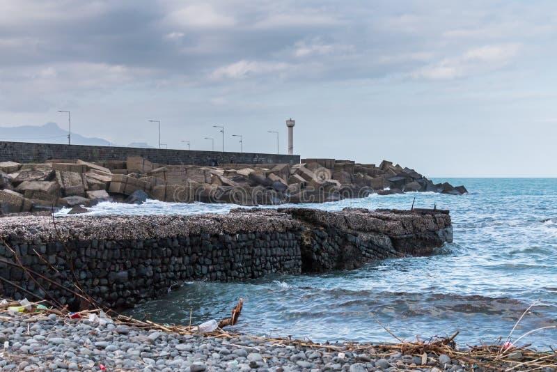 Побережье Riposto Сицилии Ionian стоковое изображение