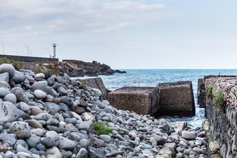 Побережье Riposto Сицилии Ionian стоковая фотография