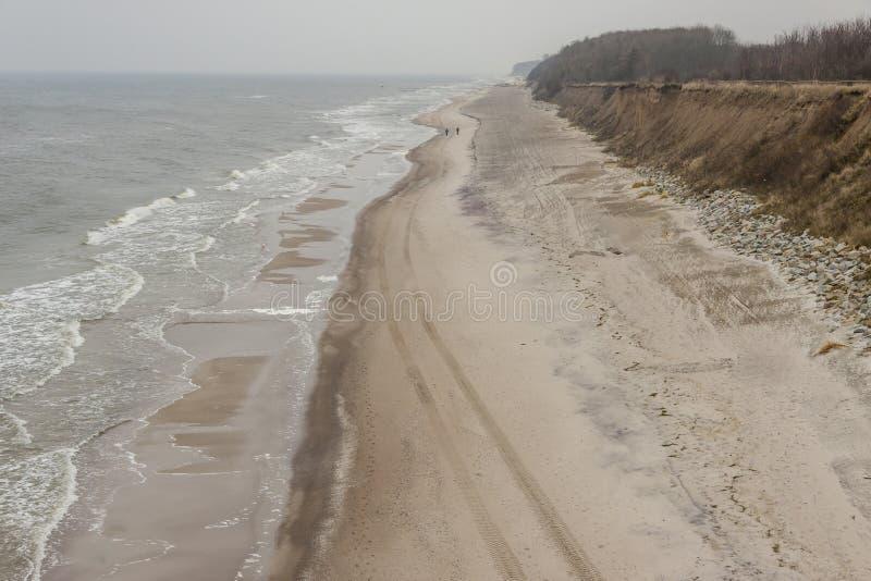 Побережье Sandy и скал прибалтийское - Польша. стоковые фотографии rf
