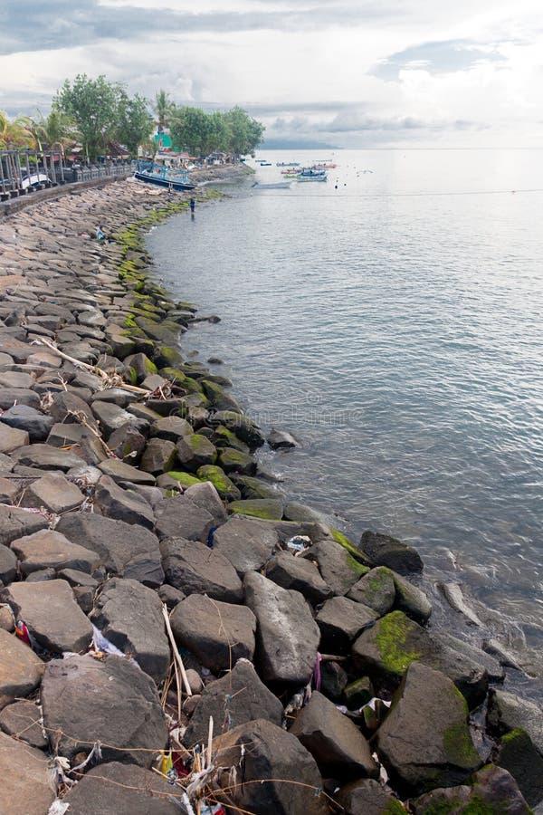 Побережье singaraja стоковая фотография